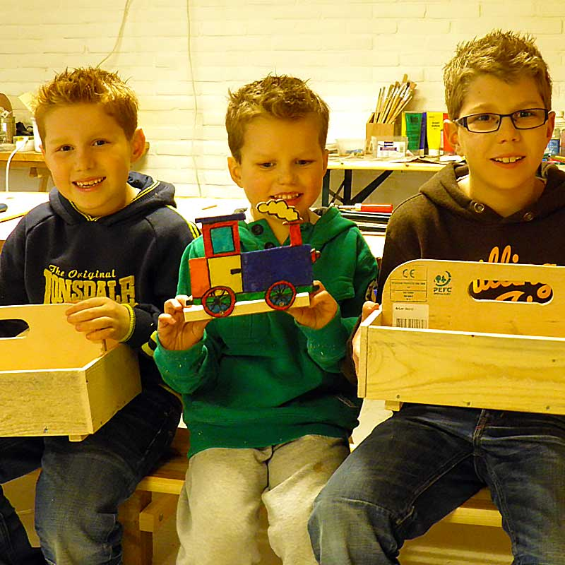 timmeren workshop kinderen-ouders